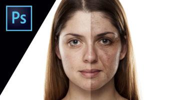 PHOTOSHOPレタッチ- 素材を使って顔を老けさせる