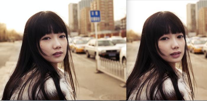 フォトショップで顔を補正した最終の画像