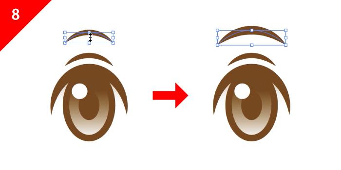 右に目をコピペして左を作る
