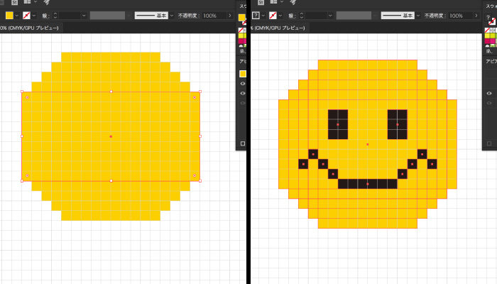 長方形ツールで簡単にドット絵が描ける
