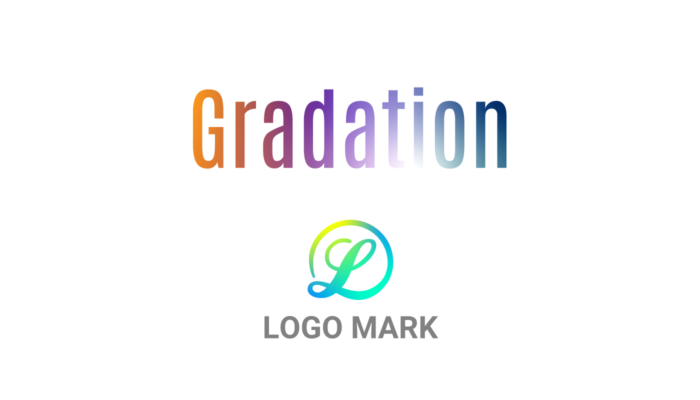文字やロゴにフリーグラデーション