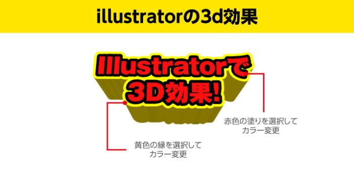 Illustratorの3D効果の完成カラーを直す、塗りや縁など