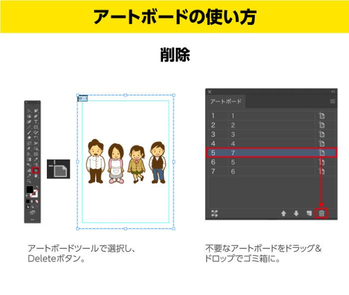 Illustratorのアートボードの使い方 削除方法