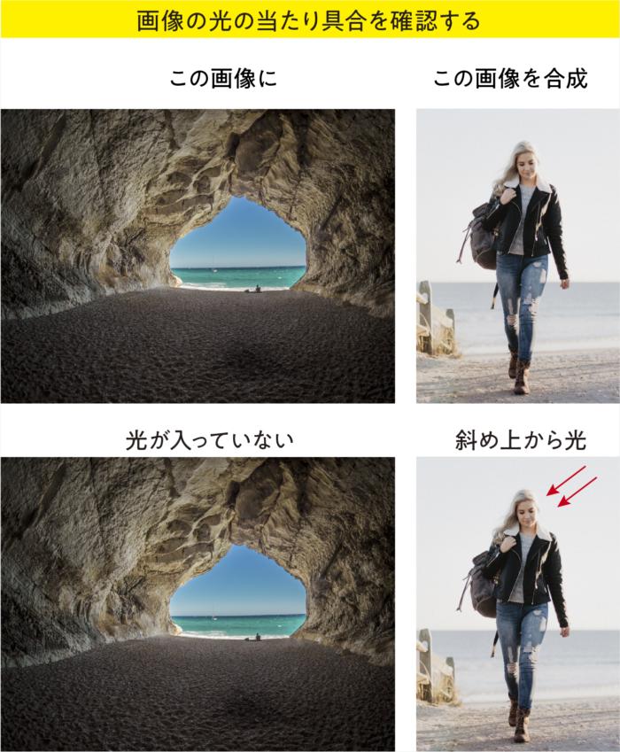 photoshopで画像を合成する際の注意点