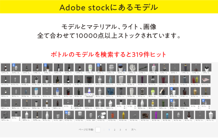 Dimension Adobe stockのモデル