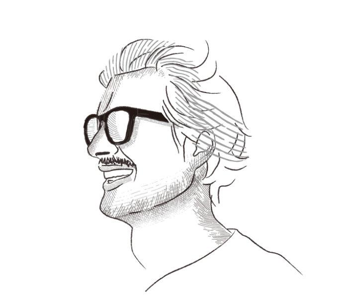 Illustratorのヴィンテージ風ブラシで描かれたイラスト