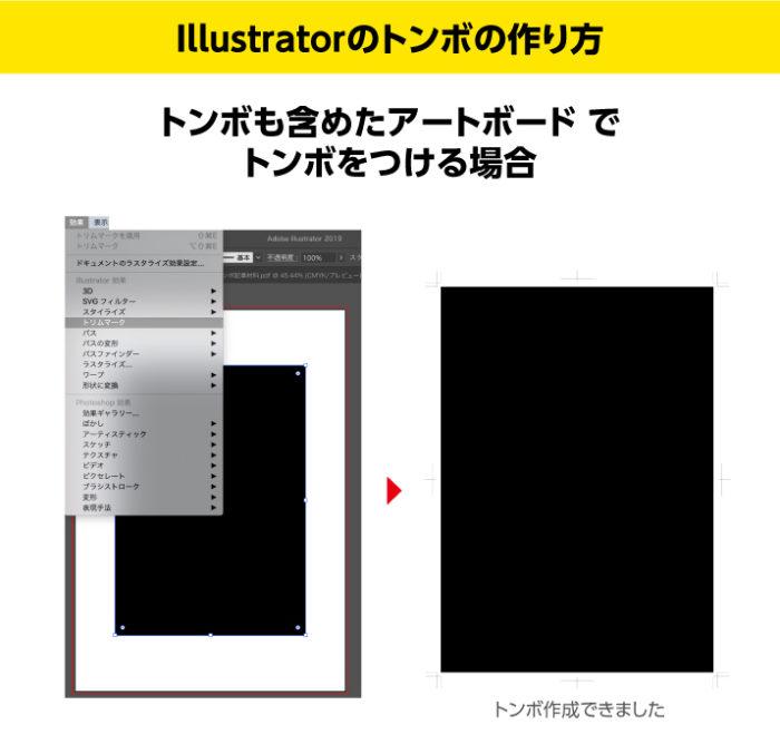 Illustratorのトンボの作り方 トンボも含めたアートボードでトンボをつける場合
