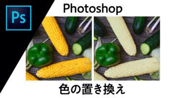 Photoshop 色の置き換え〈置き換えにくい白や黒の置き換え方法も!〉