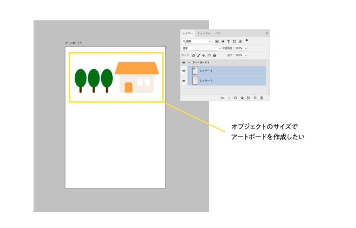 オブジェクトに合わせてアートボードを作成する